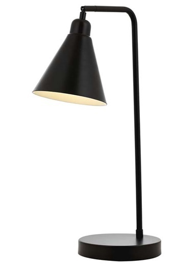 Avonni  ML-62077-02 Siyah Boyalı Masa Lambası E27 Metal 32x16cm Renkli